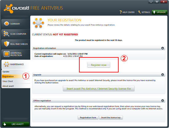 Get Avast License Key