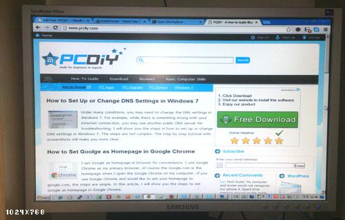 1024x768 Change Screen Resolution Windows 7